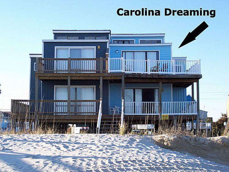 Carolina Dreaming Front House - Carolina Dreaming - SUMMER SAVINGS UP TO $175! Oceanfront, Unobstructed View, Quiet Area - North Topsail Beach - rentals