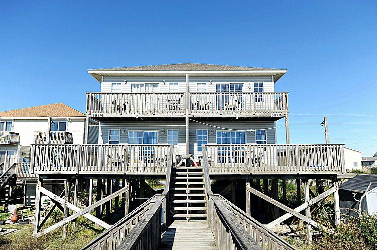 Exterior - Bookhardt South - Breathtaking View, Pet Friendly, Oceanfront - North Topsail Beach - rentals