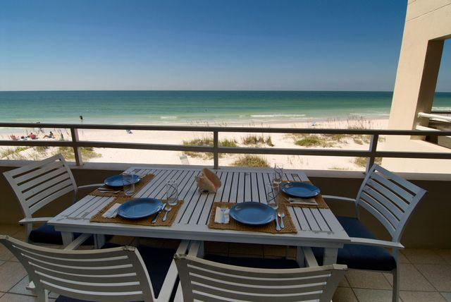 View from balcony - Coquina Beach Club 102 - Bradenton Beach - rentals