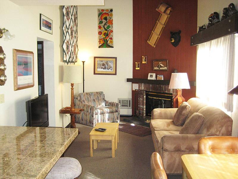 Living Room - La Vista Blanc - LVB44 - Mammoth Lakes - rentals