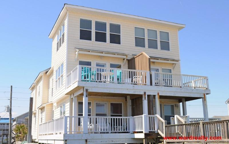 Oceanfront Exterior - Meant To Be - Surf City - rentals