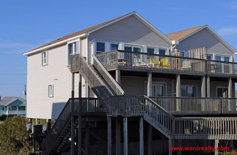 Oceanfront Exterior - Best Friends - North Topsail Beach - rentals
