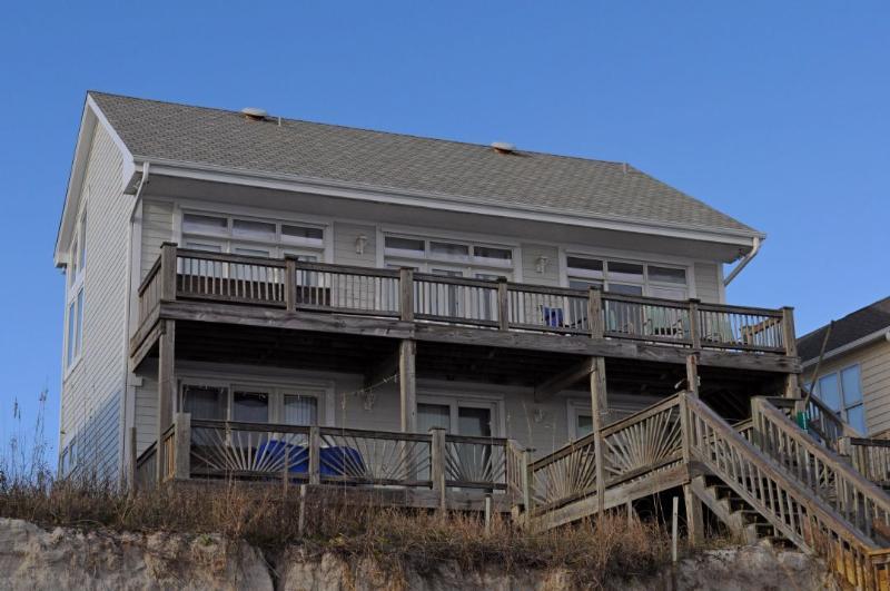 Oceanfront Exterior - Sylva Sands - Surf City - rentals