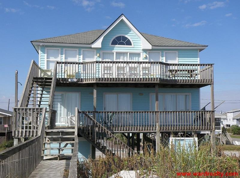 Oceanfront Exterior - On the Edge - Topsail Beach - rentals