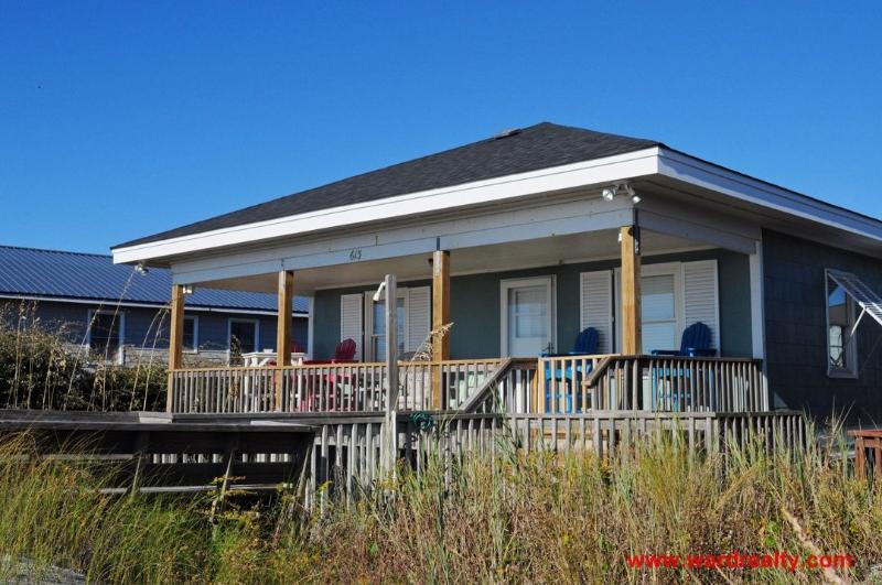 Oceanfront Exterior - White Water's Adventure - Topsail Beach - rentals