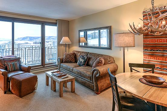 Bronze Tree Condo -Living Room-  303 - 303 Bronze Tree - Steamboat Springs - rentals