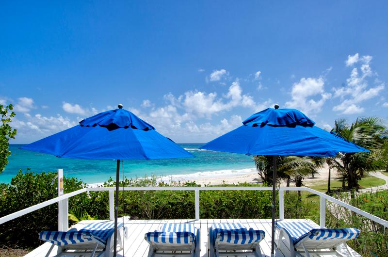 Beach Deck - Villa Oyster Pearl, Private Beach Access. - Sint Maarten - rentals