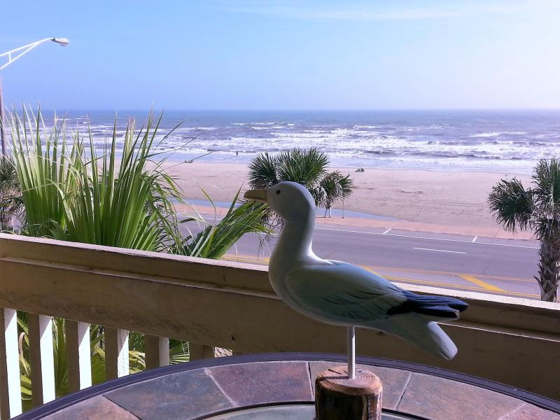 Beach and ocean view from the balcony! - BEACH VIEW;OCEAN VIEW; HOT SPA! 2 POOLS! BEAUTIFUL - Galveston Island - rentals