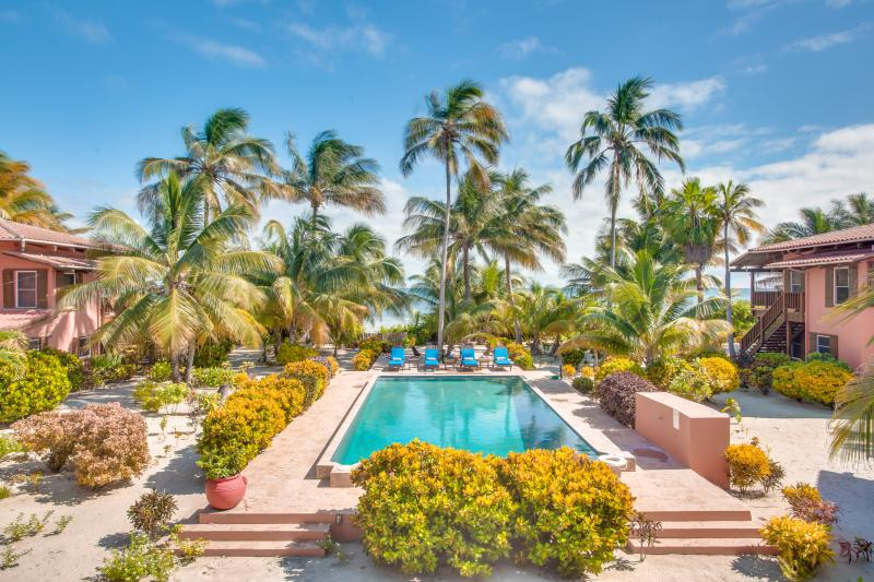 View from your balcony - Coral Caye Villa Private Beach & Balcony, Pool - San Pedro - rentals