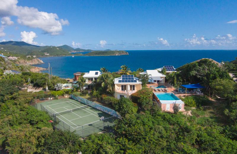 overlooking the Caribbean Sea on the southshore of St John - Great Expectations, rated the #1 villa on St. John - Cruz Bay - rentals