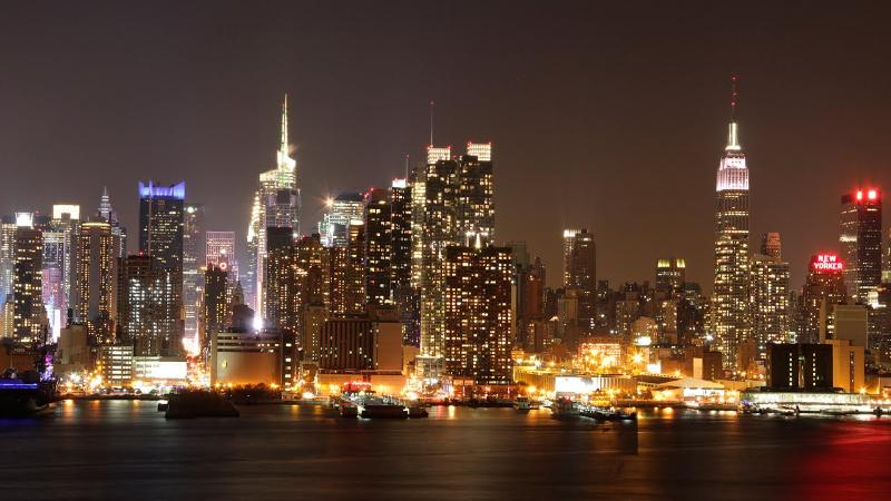 NYC skyline at dusk from Blvd East at King Avenue - KingsPlace2 - NYC ,HERE I COME, SEE YA IN 5 MINS.. - Weehawken - rentals