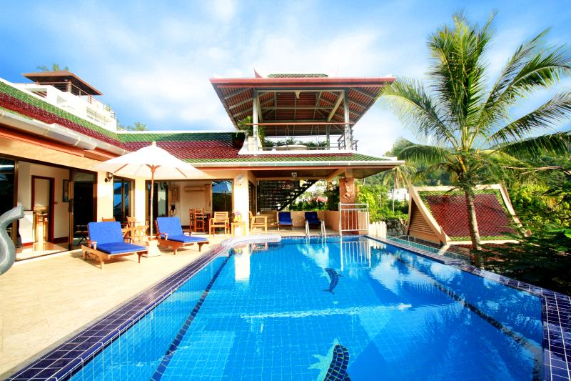 Superb rooftop Sala over private pool, Ocean views - Winner - Best villa with private pool and chef - Kata - rentals