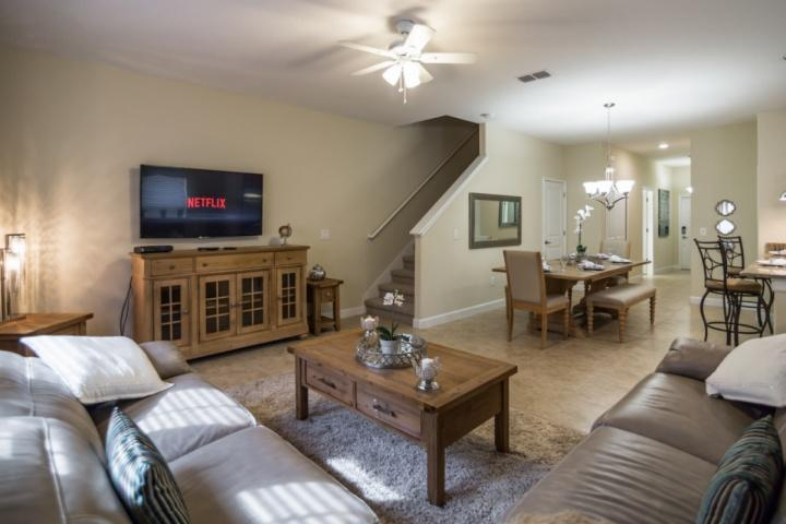 Living Area View #2 w/Flat Screen TV - 4882 Storey Lake - Kissimmee - rentals