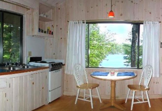 View from the open living space - The Boathouse: A Waterfront Home on Hodgdon Pond - Tremont - rentals