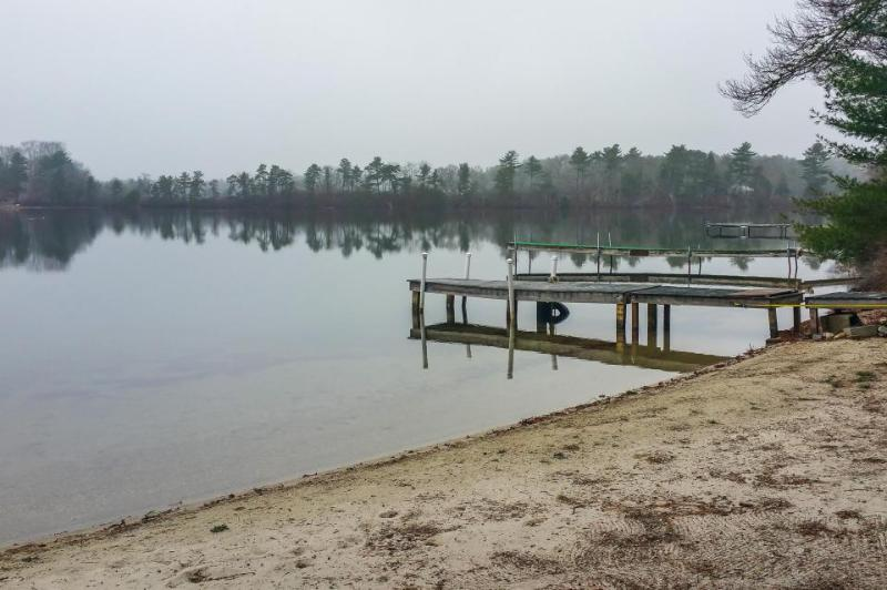 Lakefront house on over seven acres w/ private dock & beach right on the pond! - Image 1 - Wareham - rentals