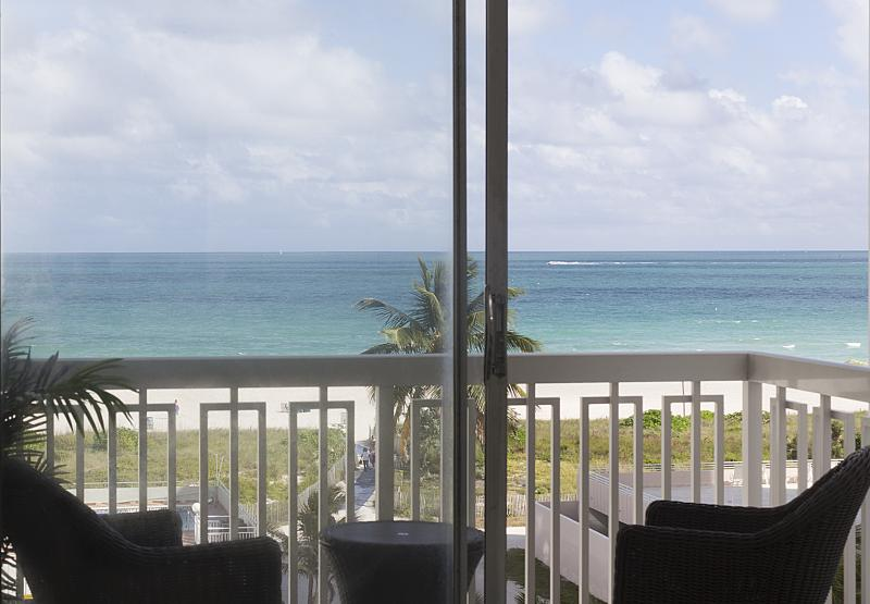 gorgeous view from inside the apartment - Direct Beach view - Miami Beach - rentals