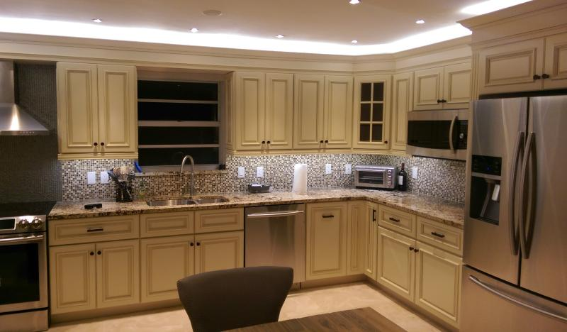 Newly Remodeled Kitchen.  Completed 2016 with all new appliances - Large Updated Luxury Condo - 2017 Season Rental - Marco Island - rentals