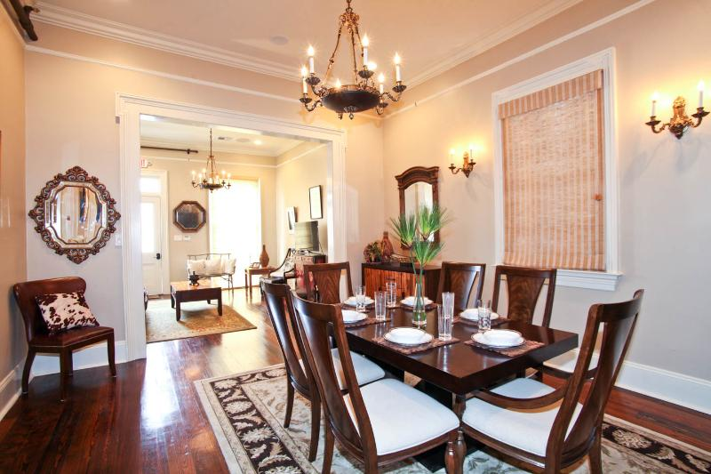 Dining room view with front living room in the background - Maison De Marigny - New Orleans - rentals