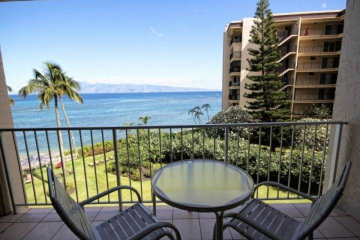 We love our ocean view from this private lanai on the 4th floor of Royal Kahana. - Royal Kahana 407 - Kahana - rentals