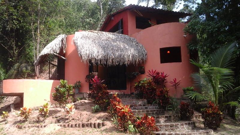 Steps through the garden to get to the front door - Yelapas Casa Viaje in Beautiful Yelapa Mexico - Yelapa - rentals
