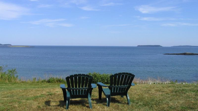 Oceanfront panoramic views - from front yard - Oceanfront Cottage with Incredible Views - Jonesport - rentals