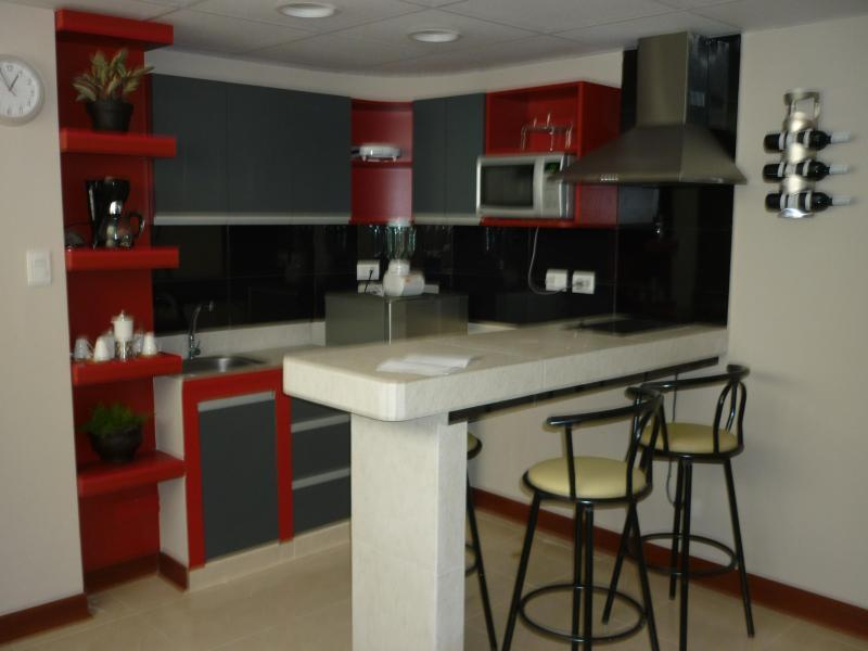 BAR, DINING / FULL KITCHEN TOOLS - Center of Miraflores completly furnished apartment - Lima - rentals
