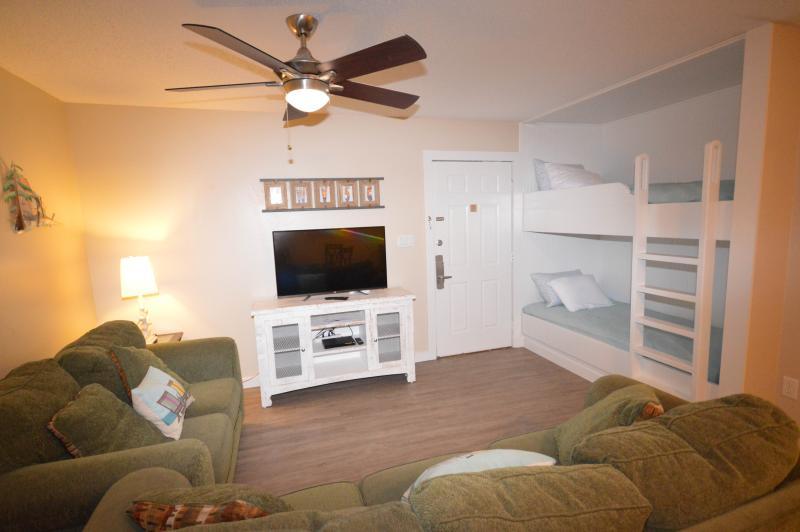 Living Area with Bunk Beds - Seagrove Central on 30A:  Beachwood Villas Condo - Santa Rosa Beach - rentals