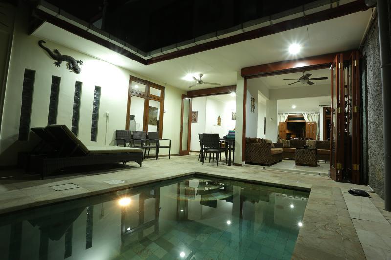 Villa Ceria - Pool Area Looking Into Back Of Villa. Bifold Doors Open. - KUTA- VILLA CERIA - Lovely Kuta Royal Villa - Bali - Kuta - rentals