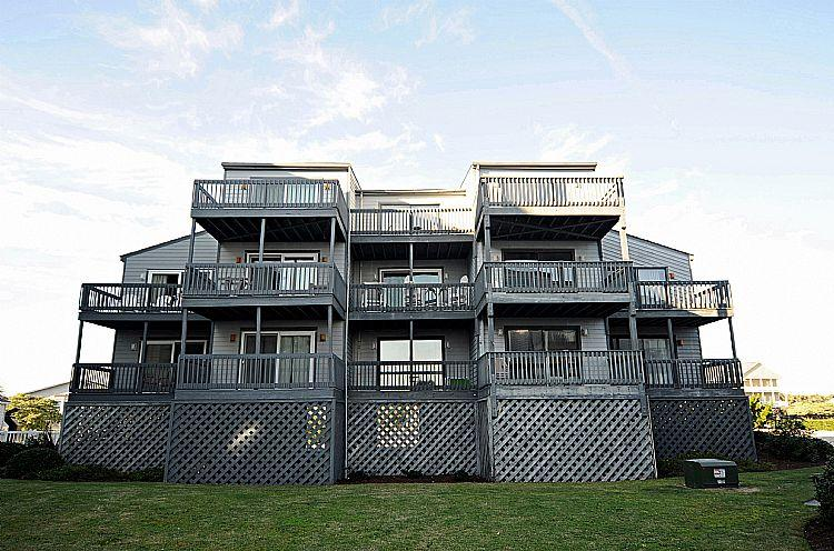 Shipwatch Exterior Back - A Glimpse of Heaven -Shipwatch II 203 - SAVE UP TO $165!! - North Topsail Beach - rentals