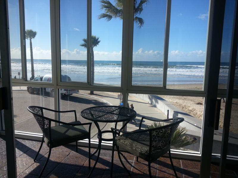 View from the indoor patio - Location! Location! Oceanfront Pismo Beach Condo - Pismo Beach - rentals