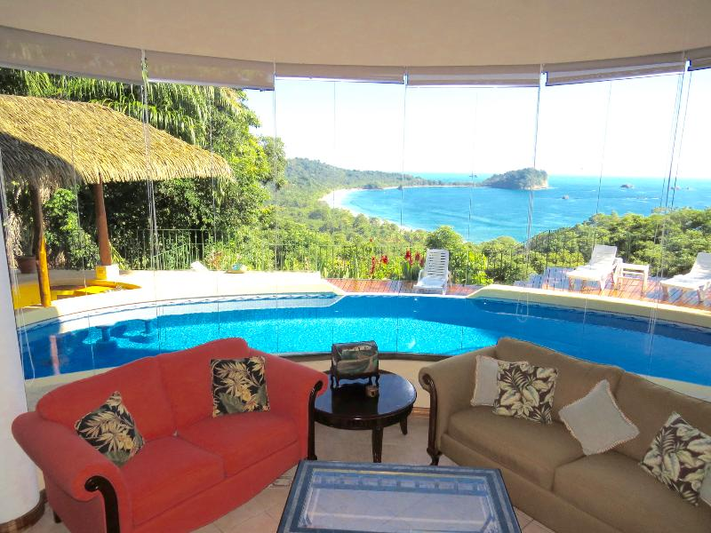Spectacular Ocean View from both inside and outside the house - Villa El Cantico Ocean View - Manuel Antonio National Park - rentals