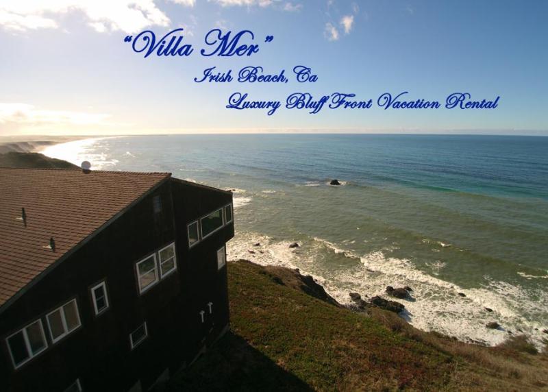 Best White Water Ocean Front Bluff Front 180° Views on the coast - Turnkey Vacation Rental-Villa Mer-Irish Beach-CA - Manchester - rentals