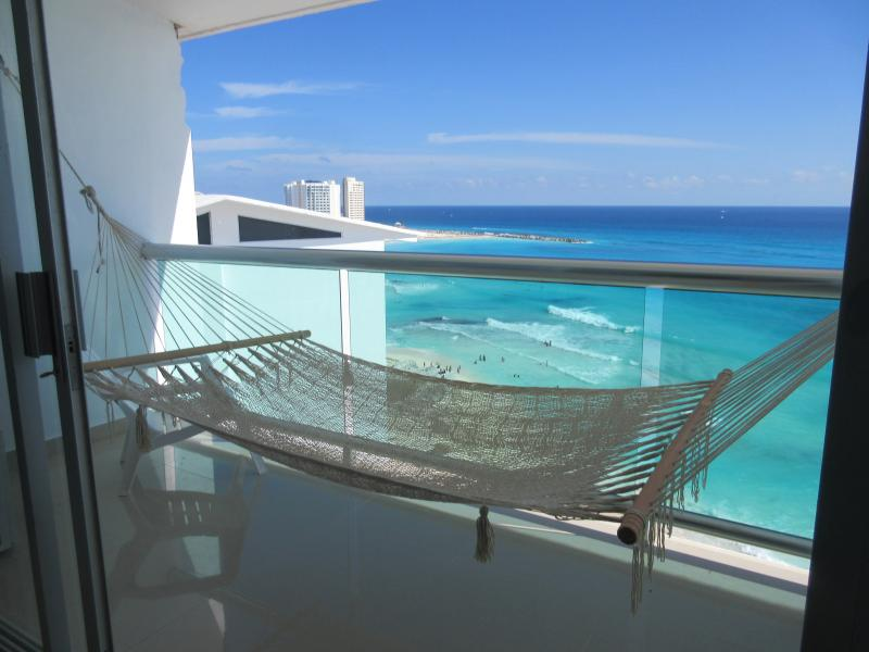 Master Bedroom Balcony view - Beach Front Best Location OCT-NOV SALE - Cancun - rentals