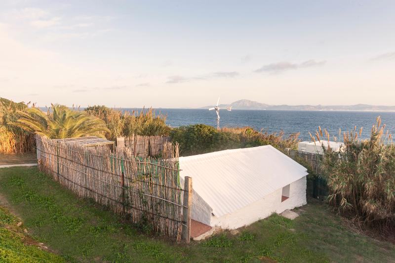 Overall view of house with Africa in background - Sea Side Romantic Nest in Nature - Tarifa - rentals