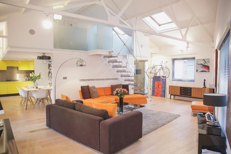 "Large open plan living area. Very light, spacious and airy but really comfortable too. - ""Superb"" Large 2 Bed Loft Apartment - Bristol - rentals"