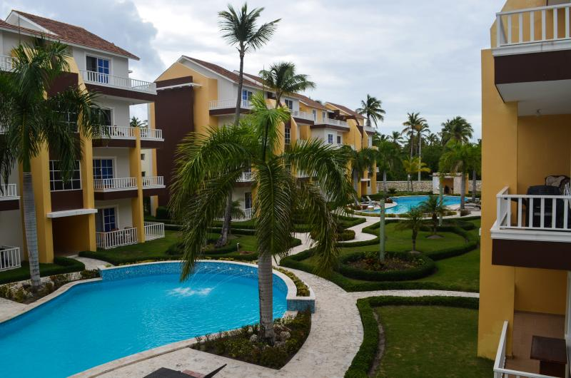 View from the balcony - Meters from the beach new 2BR pool and garden view - Punta Cana - rentals