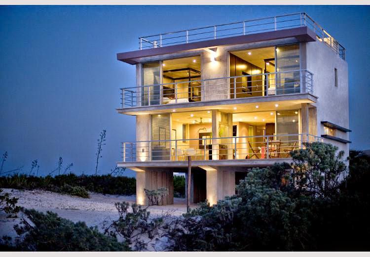 Night View From Water - Award Winning Beachfront Villa - Izamal - rentals