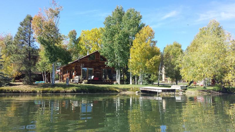Early fall on the lake - Lakeside Authentic Log Home , views, fireplace - Pagosa Springs - rentals