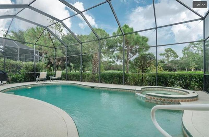 Pool / Spa  Area New 20/20 screens fitted January 2016 - Luxury Condo,Vasari, golf and tennis - Bonita Springs - rentals