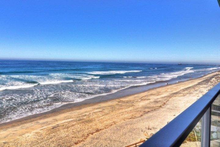 View from patio - Beachfront Condo - Oceanside - rentals
