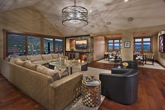 Spacious living room - Slopeside Penthouse -Flat Tops Peak -One Steamboat - Steamboat Springs - rentals