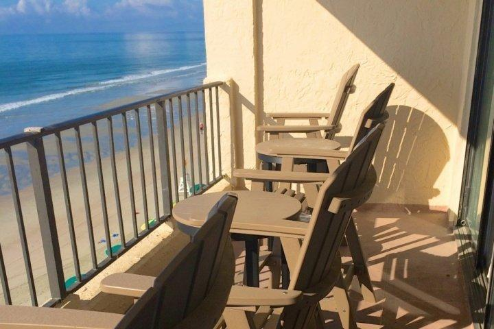 Perfect fourth floor view of the beach and ocean.  Solid furniture to relax and enjoy it on - Atalaya Towers 403 - Garden City Beach - rentals