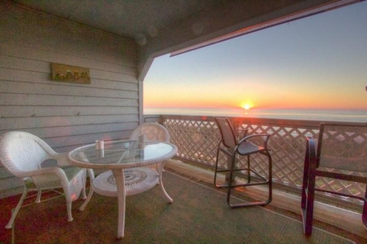 Enjoy the sunrise with your morning coffee here. - South Shores II 102 - Surfside Beach - rentals