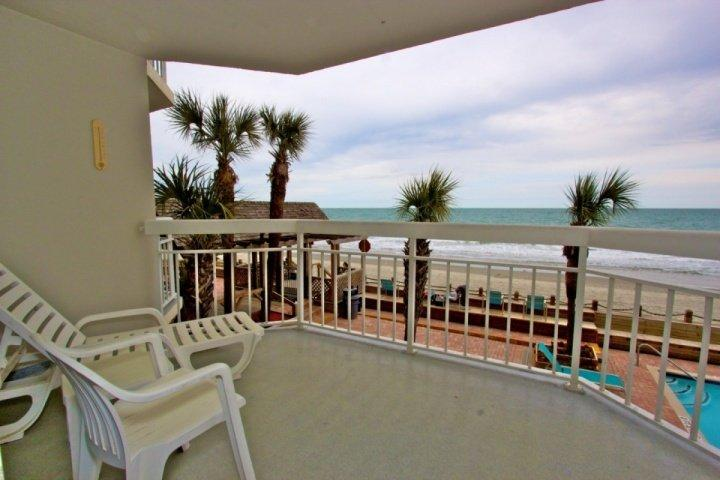 Here's the view you and your family will enjoy, a first floor view of the pool, beach and ocean. - Waters Edge 109 - Garden City - rentals