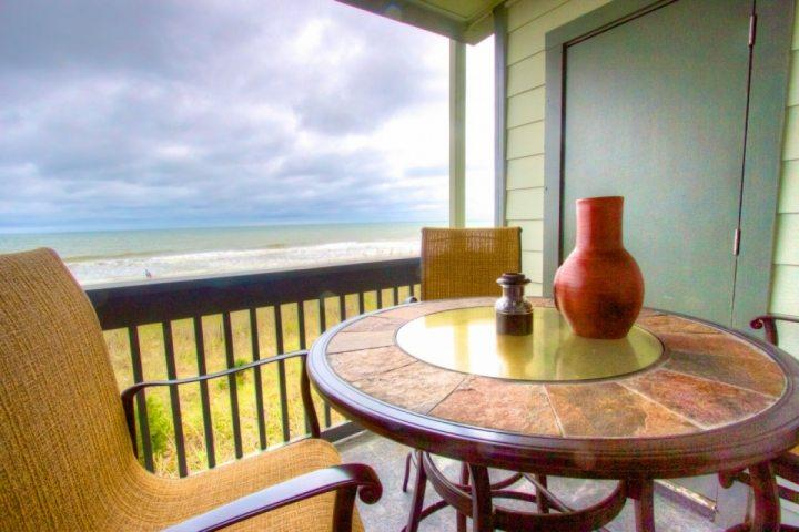 Enjoy this great oceanfront view from comfortable balcony furniture. - Sea Cloisters I 205b - Surfside Beach - rentals
