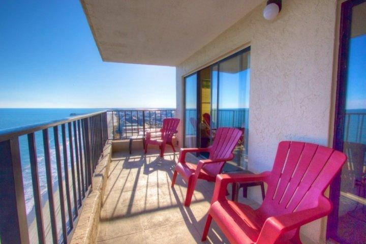 Fantastic view of the beach, the ocean, Garden City and Murrell's Inlet from the south end of the 14th floor - Atalaya Towers 1406 - Murrells Inlet - rentals