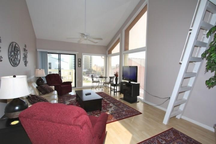 Living room area with 37 - The Village 14 - Gulf Shores - rentals