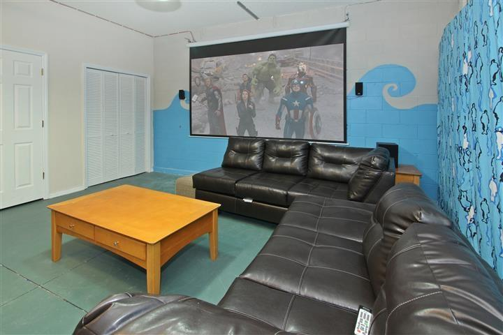 Home Theater - 8 BR 4Kings villa Home theater and m-3ML to Disney - Four Corners - rentals