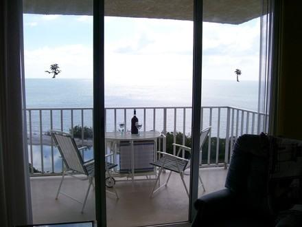 Balcony view with the Gulf of Mexico - PENTHOUSE Condo Gulf View Beach Front - Fort Myers Beach - rentals