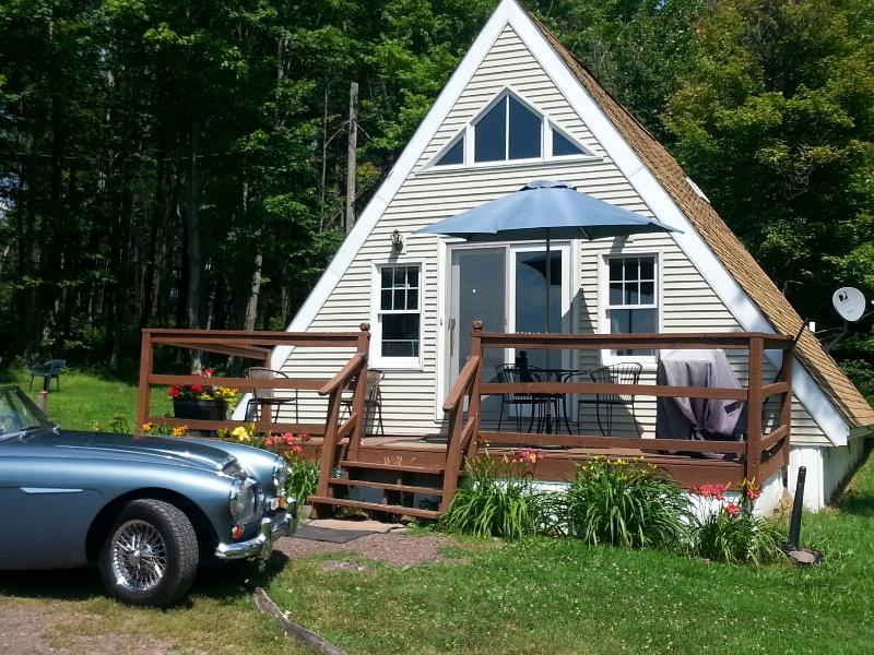 Sorry, our classic '66 Austin-Healey 3000 Mk III does not come with the cottage! - Cozy Catskill Cottage- Secluded Acres, Mt. Views - Stamford - rentals